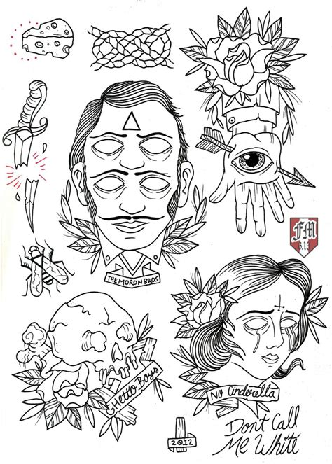 tattoo flash layout pin by kyle smith on drawings and sketches pinterest