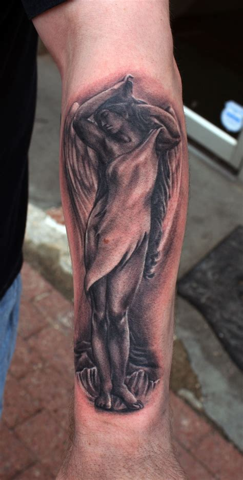 angel tattoo on forearm for on arm cool tattoos bonbaden