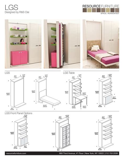resource furniture murphy bed wall beds murphy beds and resource furniture on pinterest