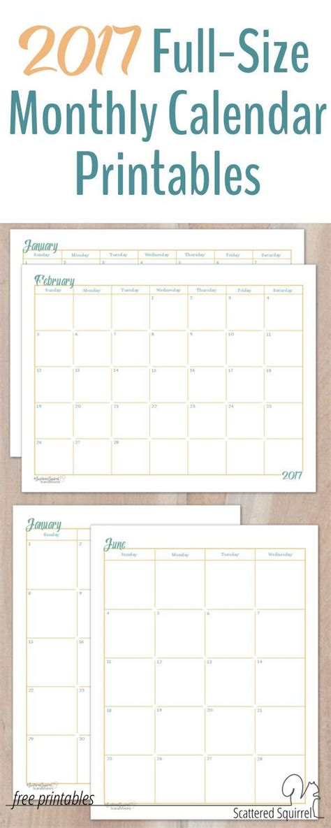 printable calendar multiple months 17 best ideas about monthly calendars on pinterest free
