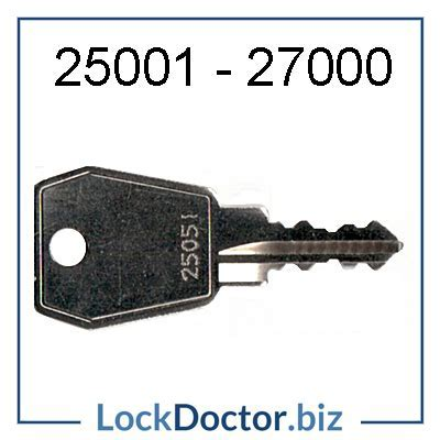 Eurolock key for Elite Lockers 25001 27000   NEXT DAY