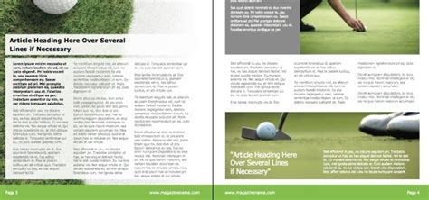 magazine layout design course magazine golf istudio publisher page layout software