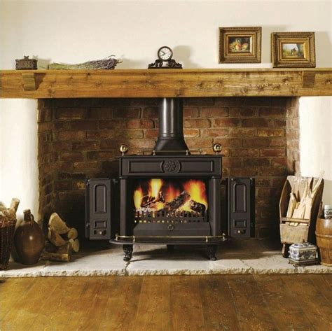 Wood Burning Stove In Fireplace by Inspiring Flueless Wood Burning Stoves For Modern Interior