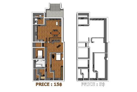 turn floor plan into 3d model model your floorplan into 3d by sketchup fastest fiverr