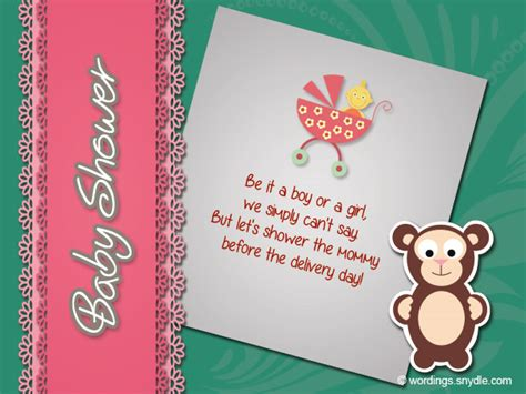 Baby Shower Wishes For Baby by Baby Shower Wishes Wordings And Messages