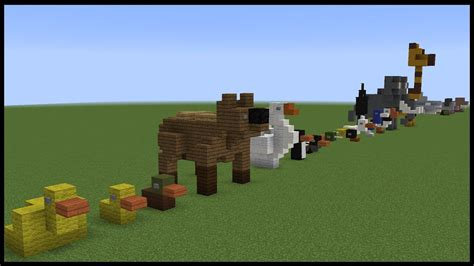 small minecraft animal designs youtube
