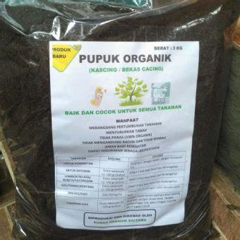 Harga 1 Kg Cacing jual pupuk organik kascing bekas cacing kemasan 3 kg