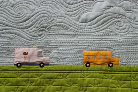 Free Motion Quilting Clouds by Quilting Is Therapy Busy City Quilt Quilting Is