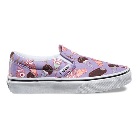 vans pattern shop kids glitter ice cream slip on shop kids shoes at vans