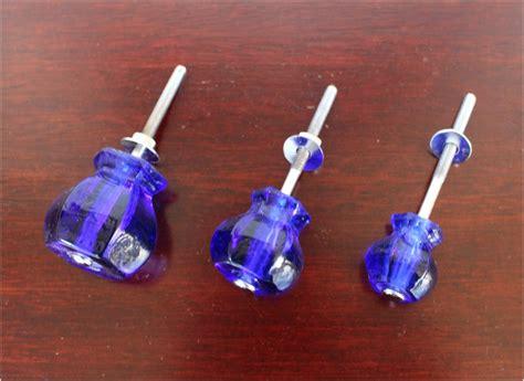 cobalt blue cabinet pulls 1 quot cobalt blue glass cabinet knobs pulls vintage dresser