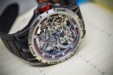Roger Dubuis Excalibur Dual Tourbillon Black sihh 2015 roger dubuis excalibur spider flying tourbillon on with live photos