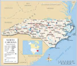 carolina state map with cities reference map of carolina usa nations project
