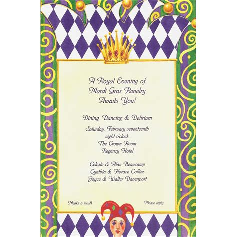 royal mardi gras invitation mardigrasoutlet com