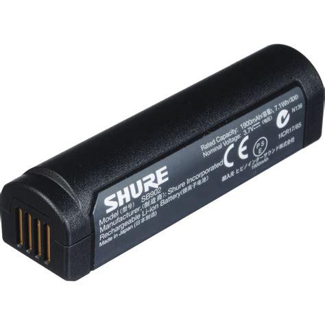 Baterai Rechargeable shure sb902 rechargeable lithium ion battery sb902 b h photo