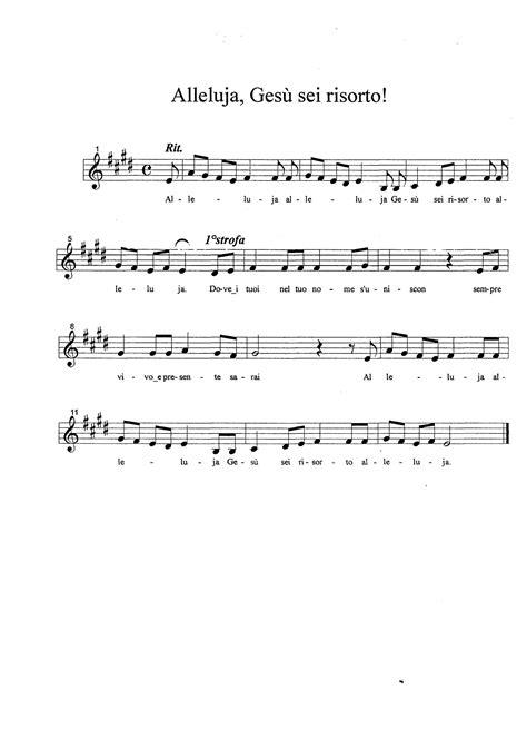 testo canzone alleluia spartiti alleluia fare di una mosca