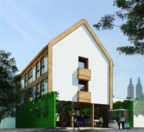 photo tampak samping rumah kost benhil  desain arsitek