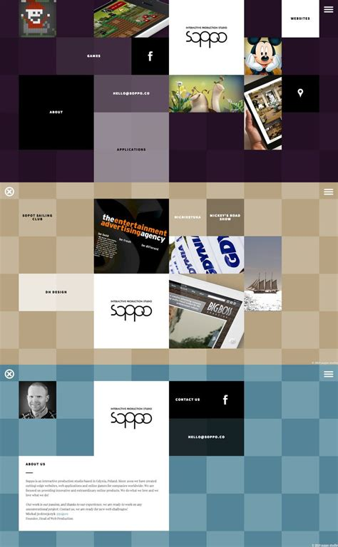 app layout grid soppo cool website creative grid nice animations
