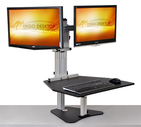 Kangaroo Elite Adjustable Height Desk Ergo Desktop Kangaroo Adjustable Height Desk