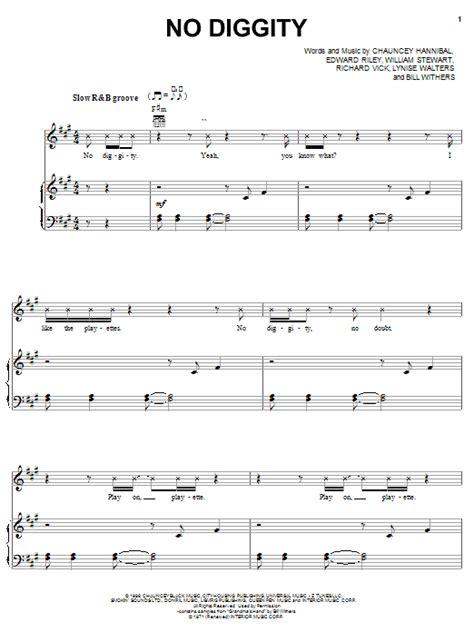 diggity song no diggity sheet direct