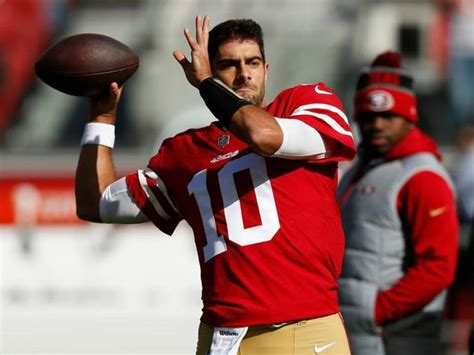jimmy garoppolo to start vs bears when how to watch the game patch
