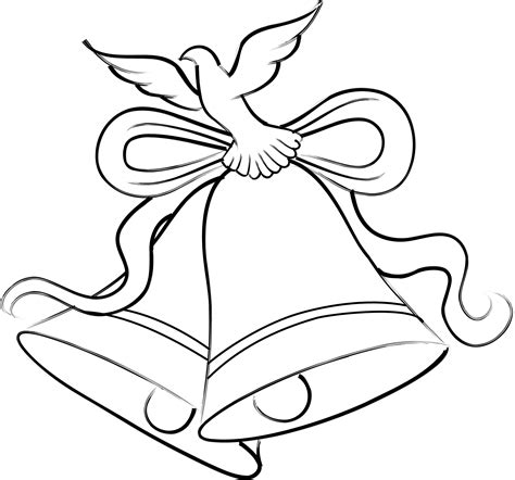 Wedding Bell Drawing by Wedding Bells Cliparts Co