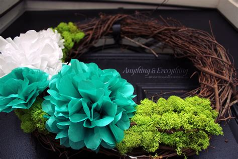How To Make A Tissue Paper Wreath - tissue paper flower craftbnb