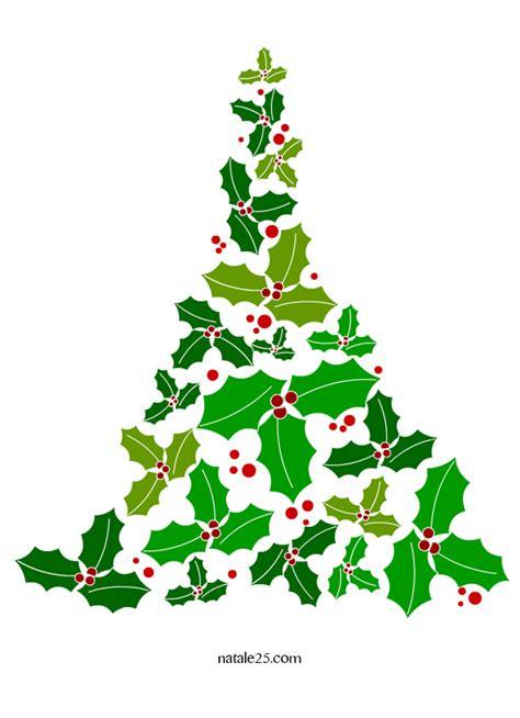 clipart albero di natale albero di natale con foglie di agrifoglio natale25