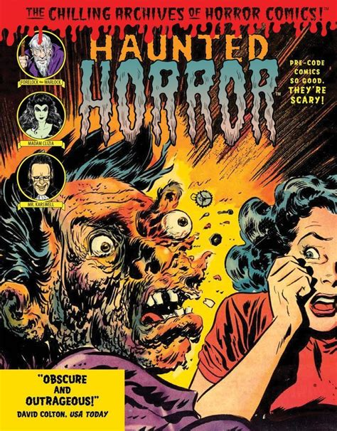 haunted horror pre code cover coloring book idw publishing