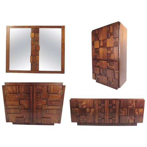 lane brutalist bedroom set mid century modern brutalist bedroom set by lane at 1stdibs