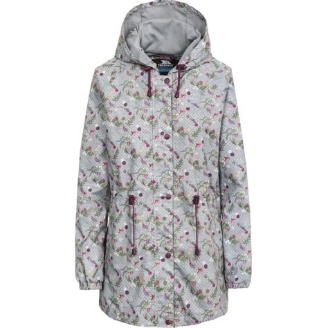 Floral Hooded Jacket trespass womens pastime hooded waterproof floral