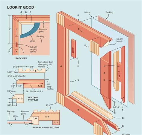 free skil build plan wall mirror frame