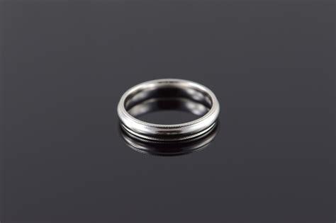 platinum 4mm classic wedding band s ring size 10