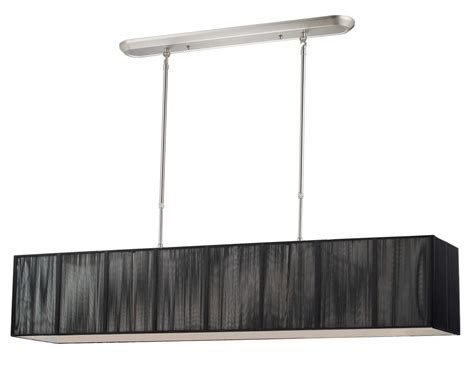 Rectangular Island Light Five Light Brushed Nickel Black Shade Island Light Z Lite 173 48bk Nc