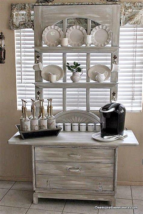 coffee station created   dresser drawer