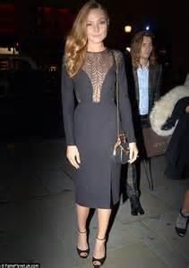 Effortlessly elegant plunging black midi dress with semi sheer detail