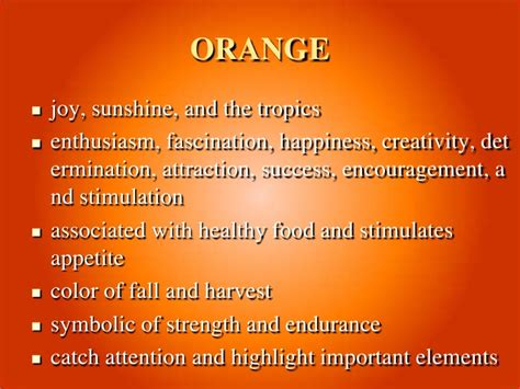 meaning of the color orange meaning of color 1