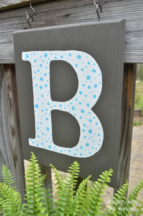 monogram diy projects diy monogram flag at home with the barkers