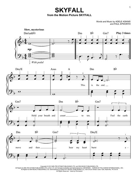 adele a piano adele easy piano sheet music images