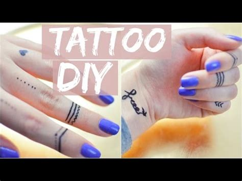 tattoo alternatives temporary diy tutorial tattoostift