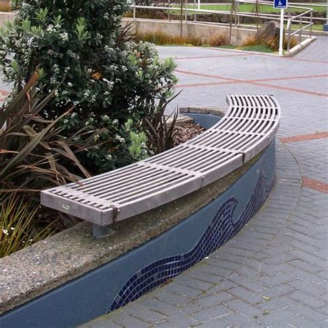 curved timber bench curved timber bench 187 street furniture nz