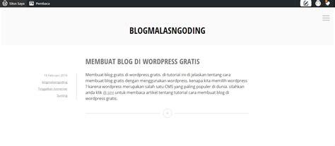 membuat blog web cara membuat blog di wordpress gratis mudah malas ngoding