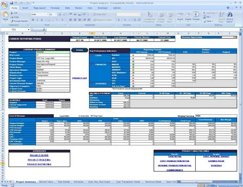 Project Management Summary Exle by Project Status Reporting Via Microsoft 174 Excel