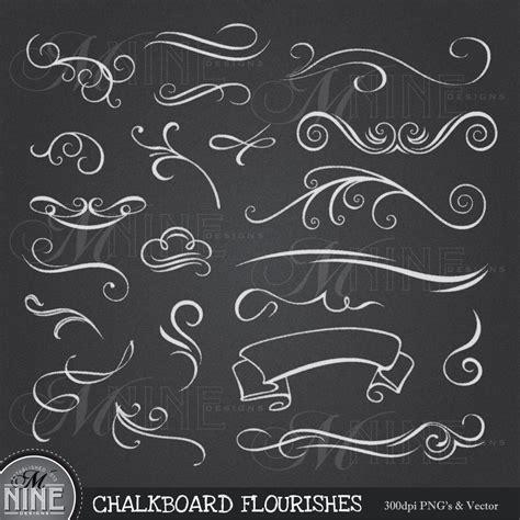 chalkboard clipart chalkboard clip chalk flourishes clipart by
