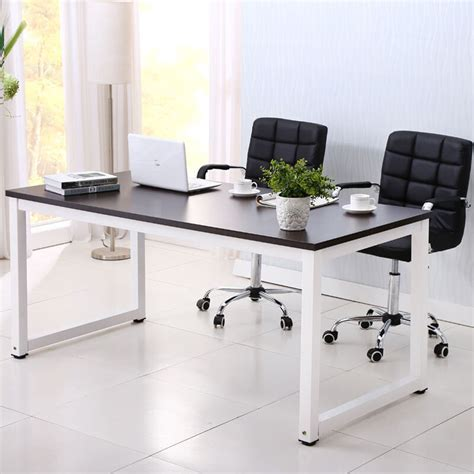 home office furniture black computer desk pc laptop table wood workstation study home