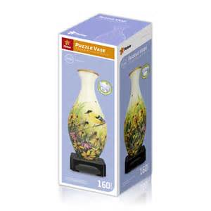 3d vase puzzle goldfinches pintoo s1003 160 pieces