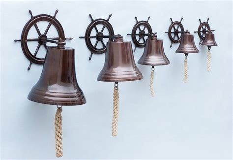 Wholesale Nautical Decor by Buy Antique Copper Hanging Ship Wheel Bell 8 Inch