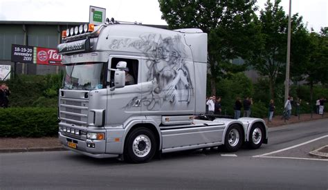 scania longline seen here at les ch ti truckers show