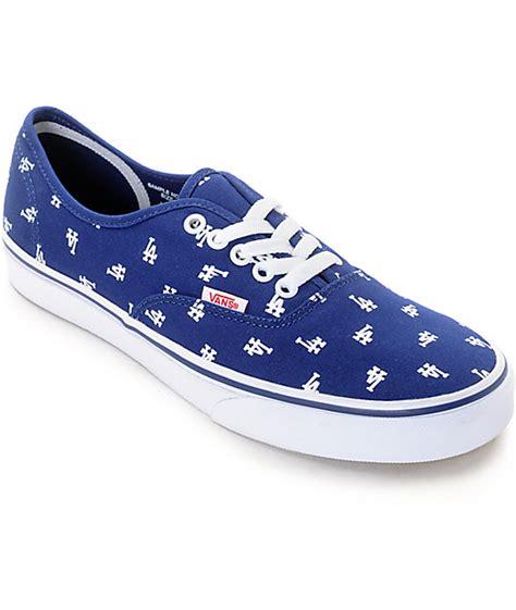 zumiez shoes for vans x mlb authentic dodgers canvas skate shoes at zumiez