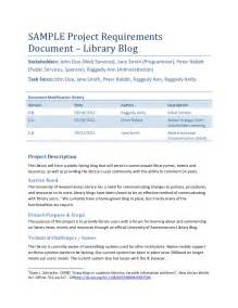 application technical documentation template sle project requirements document library