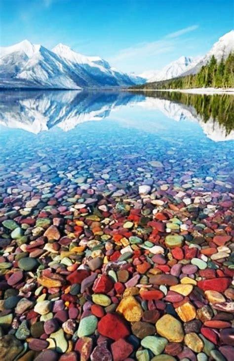 lake mcdonald montana colored rocks lake mcdonald glacier national park flathead county
